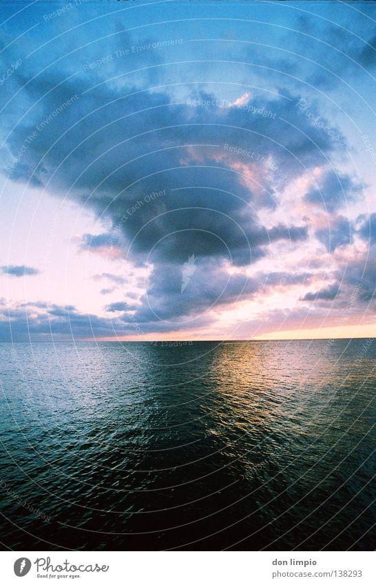 Treibgut Wasser Meer Wolken Wellen Wind Horizont analog Im Wasser treiben