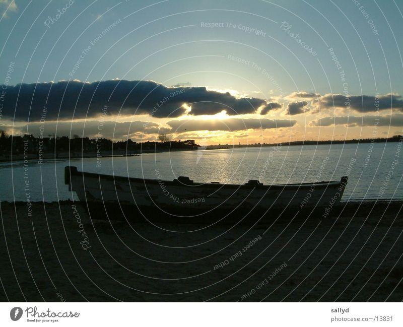 sonnenuntergang Himmel Wasser Wolken Wasserfahrzeug Kiel