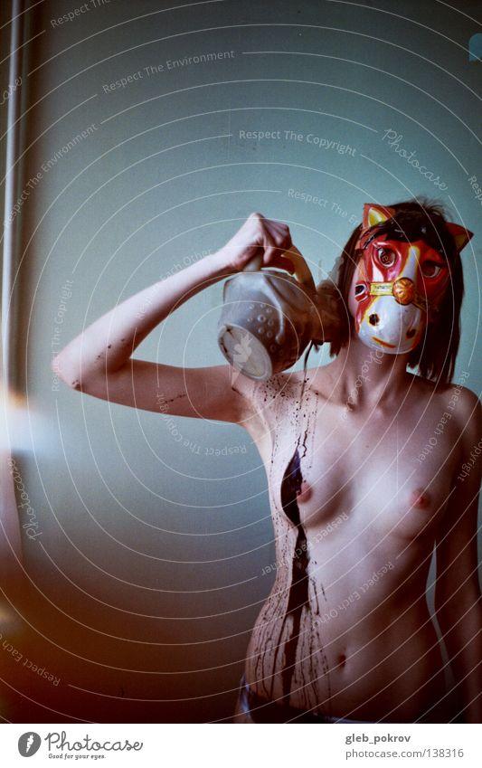 dreaming horse. Akt Frau Hand Wasser Freude schwarz nackt Haare & Frisuren Beine Kunst Hintergrundbild Behaarung Finger Bodenbelag Pferd Maske