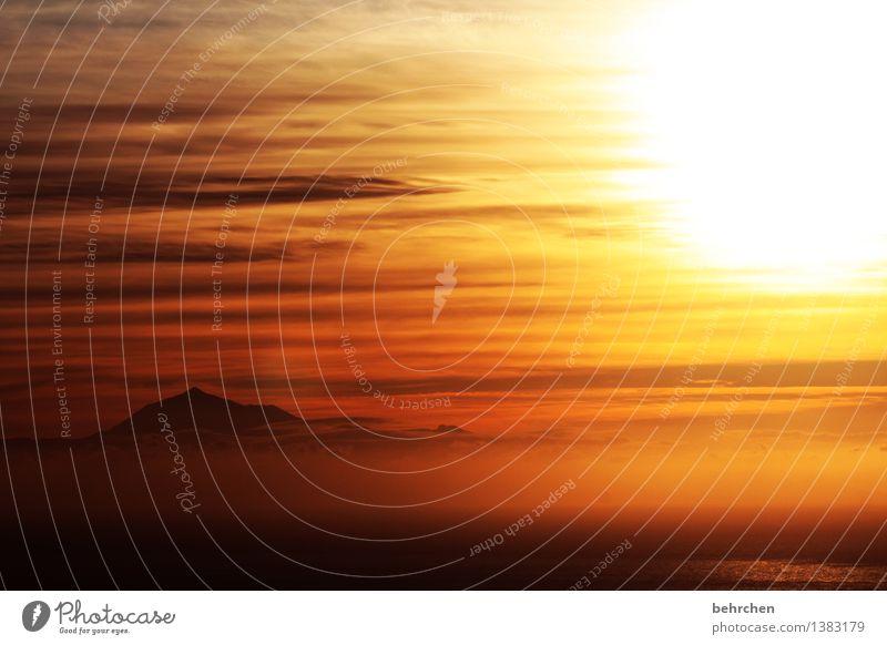 wie engel erwachen Himmel Ferien & Urlaub & Reisen schön Sommer Sonne Meer Landschaft Wolken Ferne Berge u. Gebirge Frühling Küste Glück Freiheit orange
