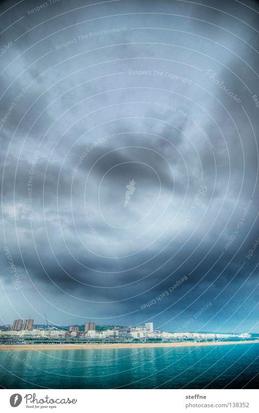 Seaside Himmel Meer Wolken See Küste Wut Gewitter Anlegestelle England Ärger maritim Großbritannien Donnern Brighton