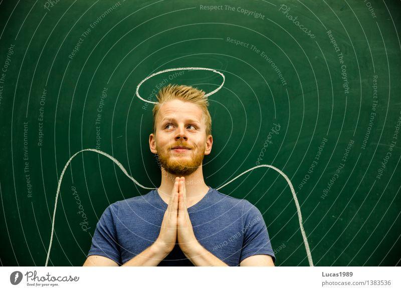 Engel Mensch Jugendliche Mann grün Junger Mann 18-30 Jahre Erwachsene Religion & Glaube Arbeit & Erwerbstätigkeit maskulin lernen Studium Kirche Freundlichkeit