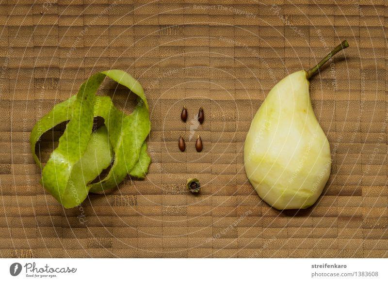Bausatz Birne Natur Pflanze nackt Gesundheit Lebensmittel Frucht Design Ordnung Erfolg Ernährung einfach rein gut Appetit & Hunger machen Vegetarische Ernährung
