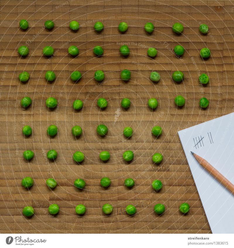Erbsenzähler Pflanze grün Gesundheit Lebensmittel Ordnung ästhetisch Ernährung Papier rund Ziel Gemüse Langeweile Schreibstift Arbeitsplatz