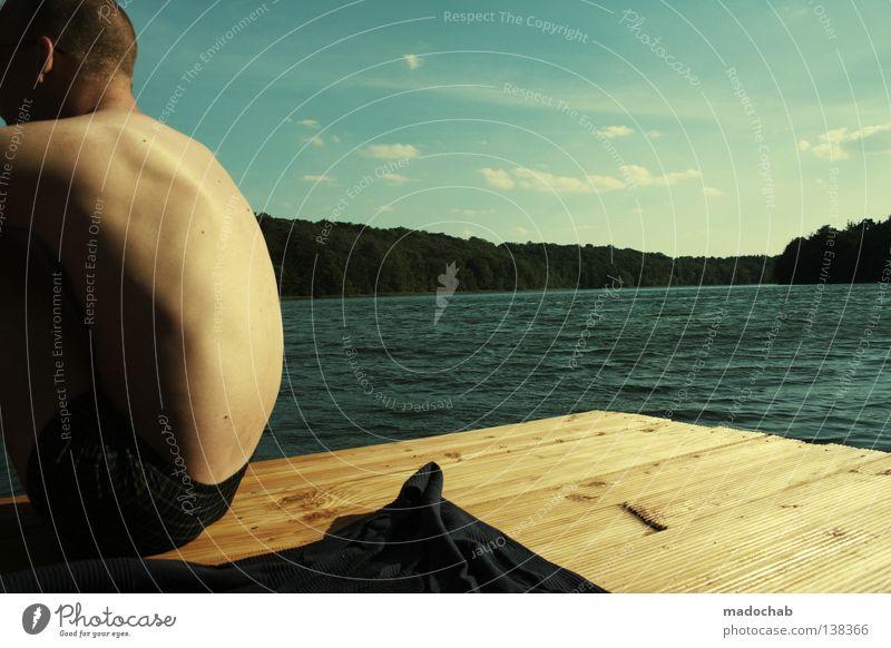 ENDLESS SUMMER Mann Mensch Sommer See Gewässer Erholung Fernweh Sehnsucht Gefühle erholsam Wellness Stimmung positiv maskulin ruhig Jugendliche atmen