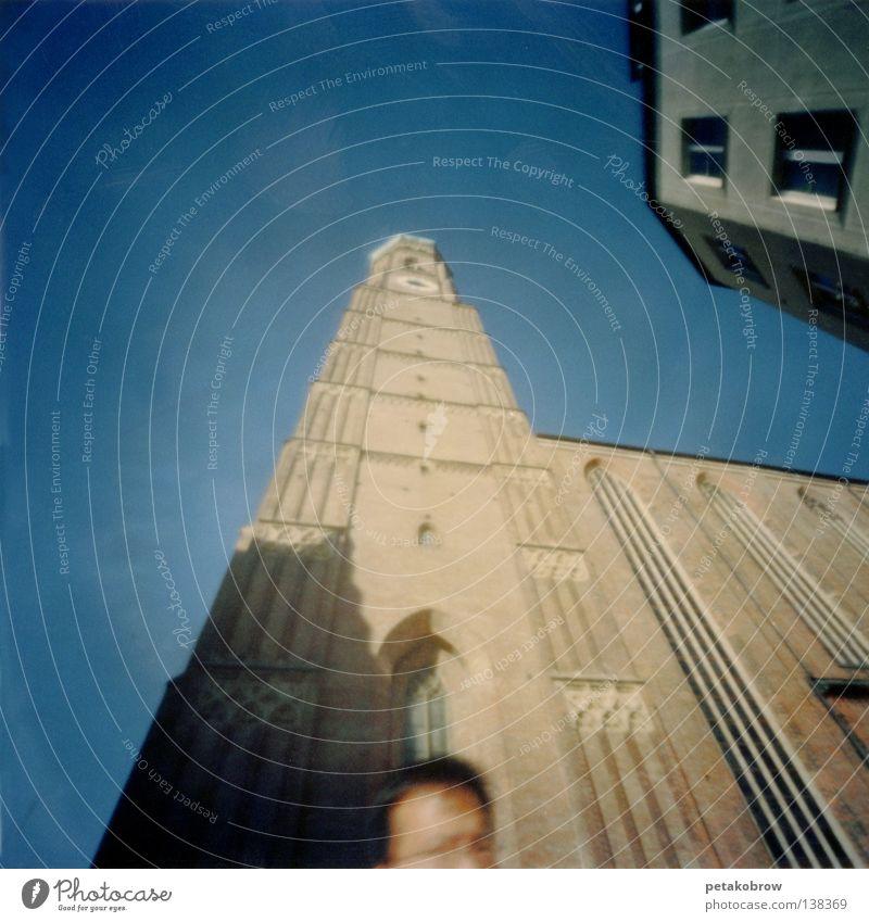LochbildMchn001 Himmel blau Architektur Niveau München Dom Chinese Frauenkirche
