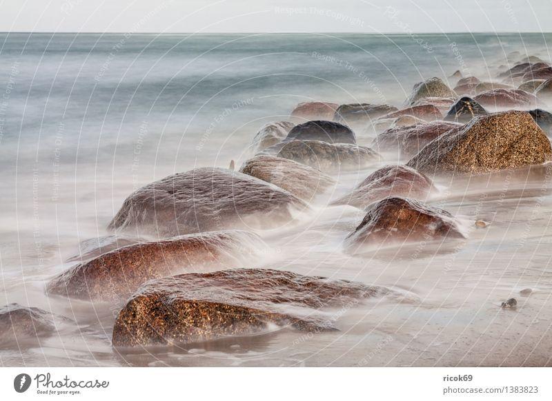 Ostseeküste Natur Ferien & Urlaub & Reisen blau Wasser Erholung Meer Landschaft ruhig Strand Küste Stein Felsen Tourismus Idylle Romantik