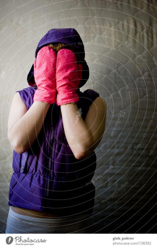 Pink dreams ) rosa Licht Torso Medien Stil Bekleidung Handschuhe Frau Jacke Hose Hintergrundbeleuchtung träumen Freude clothes gloves photocase woman jaket