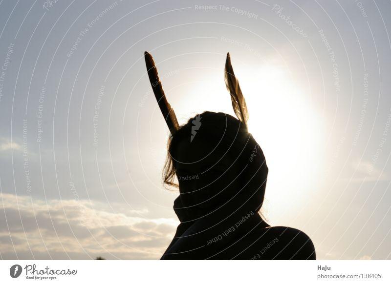 Schattenhase Mensch Sonne Ostern Hase & Kaninchen Osterhase Schattenspiel
