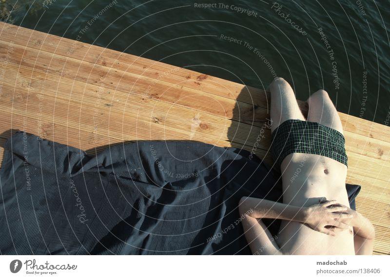 SWEET DREAMS Mann Mensch Sommer See Gewässer Erholung Vertrauen schlafen Brustwarze träumen Fernweh Sehnsucht kopflos Gefühle erholsam Wellness Stimmung positiv