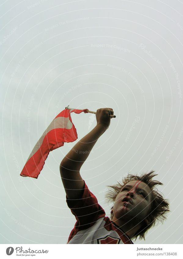 ole, ole, ole, ole.... Österreich Fan Fahne Finale Halbfinale Viertelfinale Weltmeisterschaft Freude Erfolg Fußball Match Euro EM Europameisterschaft