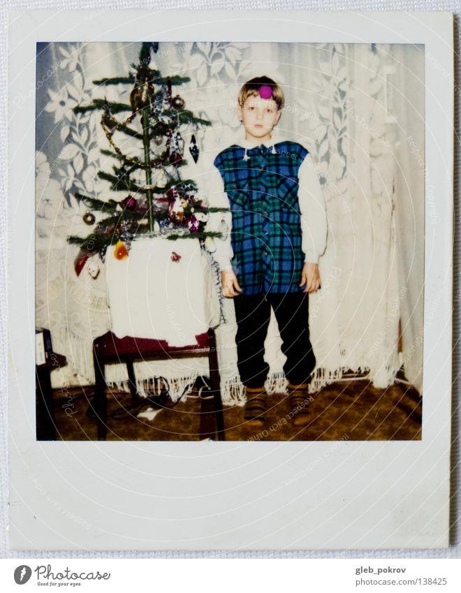 Polaroid part I Mensch Farbe Mauer retro