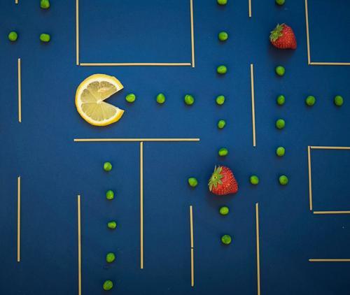 EATFRESH MAN | Super Stilllife Gesunde Ernährung Leben Essen Gesundheit Spielen Lebensmittel Frucht Technik & Technologie Zukunft retro Fitness Gemüse