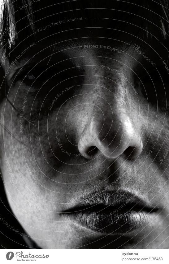 We made Mistakes Porträt Frau groß Partnerschaft Gefühle Identität Schönheitsfehler Silhouette Spielen Nahaufnahme finden Suche Philosophie Kultur atmen