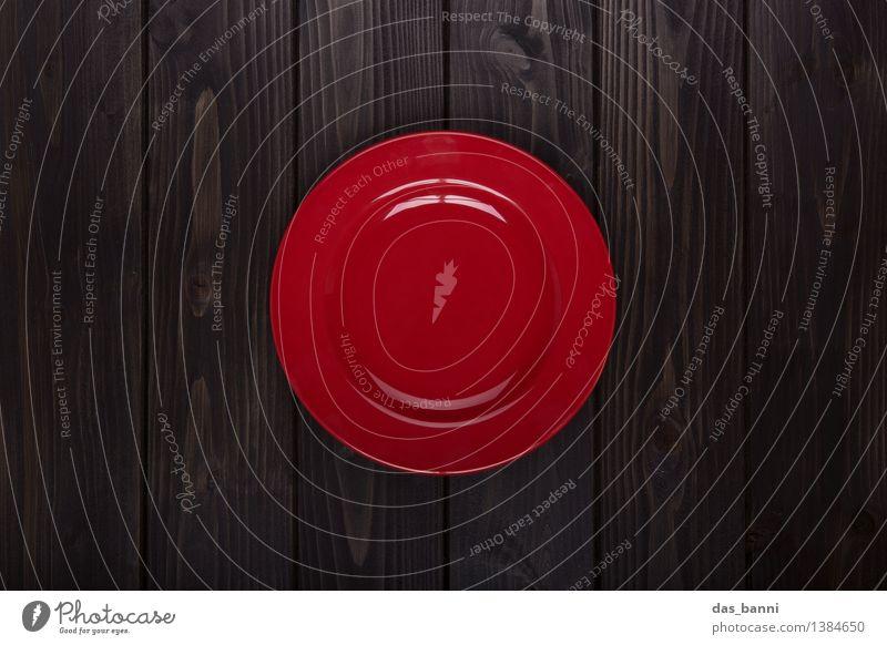 red dot Geschirr Teller Stil Design ästhetisch glänzend trendy oben Originalität rund Sauberkeit braun grau rot schwarz Dienstleistungsgewerbe Super Stillleben
