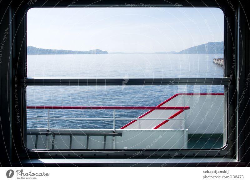 Lago Maggiore Wasser Meer Sommer See Wasserfahrzeug Güterverkehr & Logistik Italien Stahl Fähre Lago Maggiore
