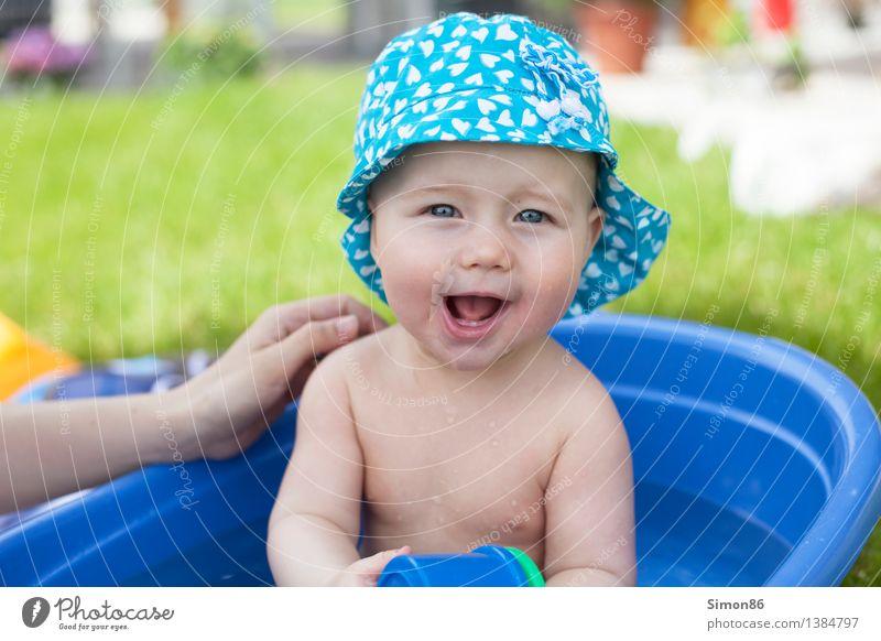 Badewanne Mensch feminin Kind Baby Kleinkind 1 0-12 Monate Schwimmen & Baden Freundlichkeit Fröhlichkeit lustig Gefühle Stimmung Freude Glück Zufriedenheit