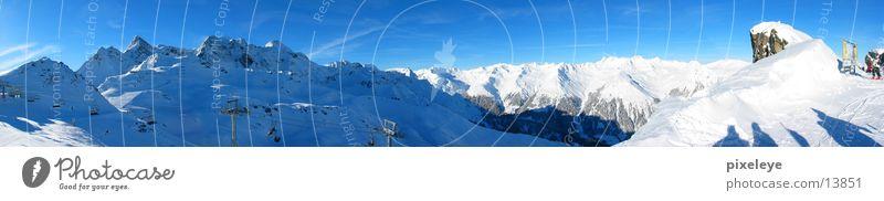 Bergpanorama Montafon Himmel Winter Schnee Berge u. Gebirge groß Alpen Panorama (Bildformat) Bundesland Vorarlberg Montafon