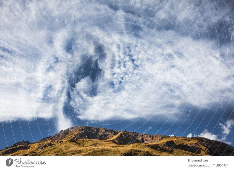 heiße Luft Ferien & Urlaub & Reisen Ausflug Abenteuer Ferne Freiheit Sommer Berge u. Gebirge Umwelt Natur Landschaft Urelemente Erde Himmel Wolken Horizont