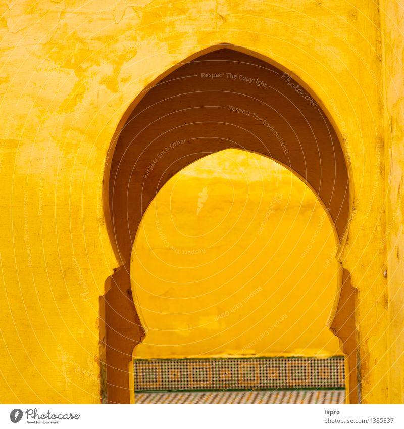 Olddoor in Marokko Afrika ancien und Ferien & Urlaub & Reisen Stadt alt Haus Architektur Gebäude Religion & Glaube braun Fassade Design Tourismus