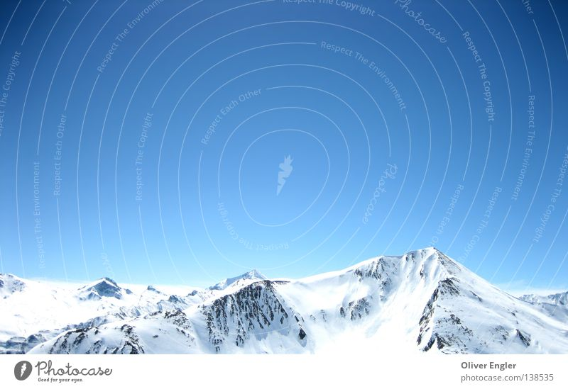 Gebirge in Österreich Himmel Winter Schnee Berge u. Gebirge groß Bundesland Tirol Schneelandschaft Österreich Landschaft Wolkenloser Himmel Ischgl