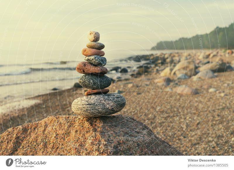 Himmel Natur blau Sommer weiß Erholung Meer Strand Wald Küste Glück klein Menschengruppe Stein Sand Horizont