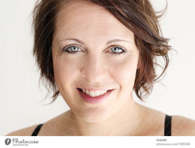 Strahlen an Herbsttagen Stil Mensch feminin Junge Frau Jugendliche Erwachsene Gesicht 1 30-45 Jahre Haare & Frisuren brünett Gefühle Stimmung Freude Glück