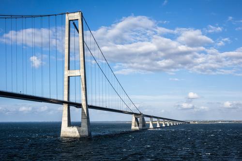 Öresundbrücke Natur Ferien & Urlaub & Reisen Landschaft Wolken Umwelt Architektur Wege & Pfade Küste Tourismus Verkehr modern Brücke Güterverkehr & Logistik
