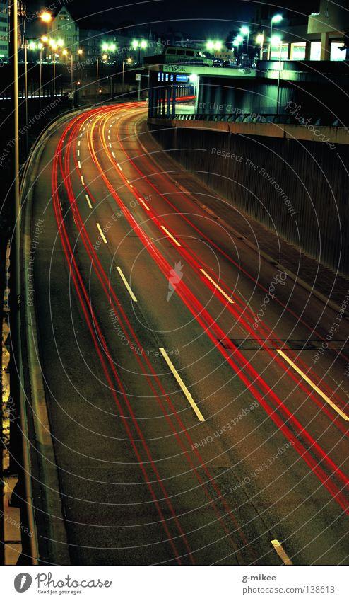 sleepless citynights Stadt Leben Berlin Bewegung PKW Verkehr Autobahn Nacht Verkehrswege