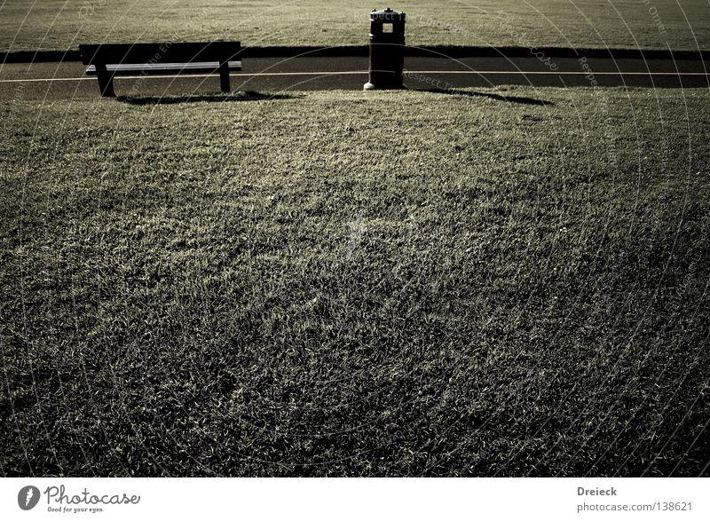 Rastplatz grün Gras Pflanze Wiese Halm Umwelt kalt Jahreszeiten Sitzgelegenheit Pause grau dunkel Park Müllbehälter Holzbank Parkbank Erde Sand England Natur