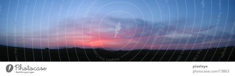 Sonnenuntergang - Panorama Wolken Panorama (Aussicht) Abend groß Panorama (Bildformat)