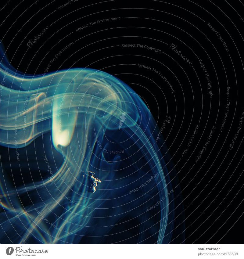 gepustet blau schön Erholung ruhig schwarz dunkel Spielen grau Feste & Feiern Brand Vergänglichkeit Kerze Rauchen Ende Rauch Handwerk