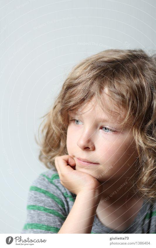 Traum | Wenn ich groß bin, werde ich... Mensch maskulin androgyn Kind Junge Kindheit Kopf Haare & Frisuren 1 3-8 Jahre blond langhaarig Locken beobachten Denken