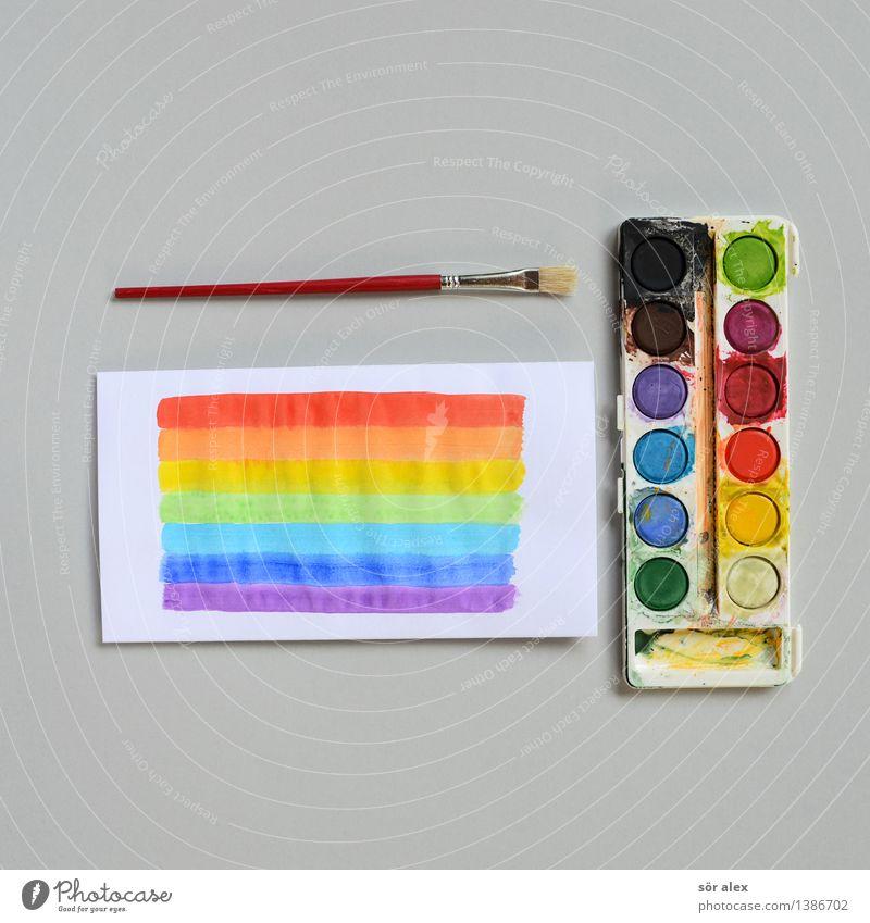 kunstleistungskurs Kindererziehung Bildung Kindergarten Schule lernen Farbkasten Pinsel Papier Wasserfarbe mehrfarbig Design Farbe Inspiration Kindheit