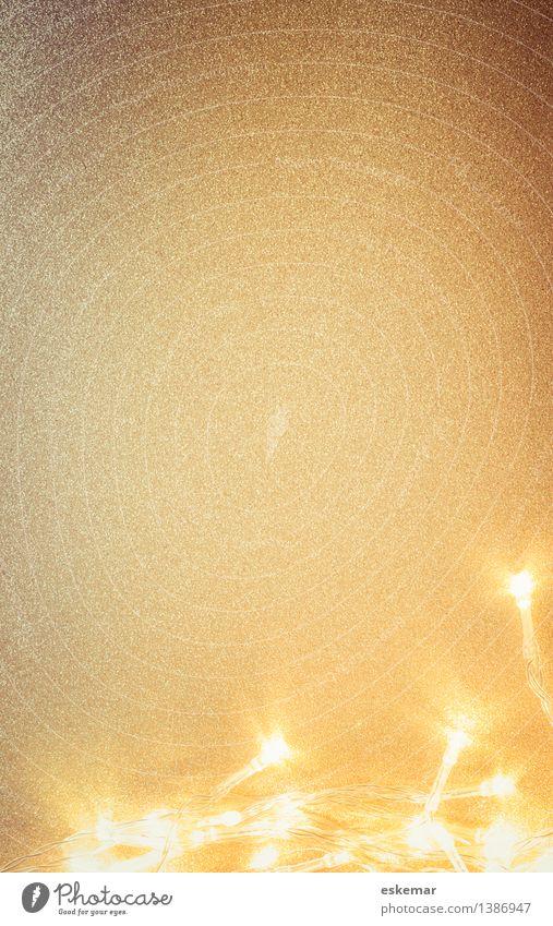 glitzer Feste & Feiern Weihnachten & Advent Silvester u. Neujahr Dekoration & Verzierung Lichterkette Gold glänzend weiß ästhetisch Farbfoto Innenaufnahme