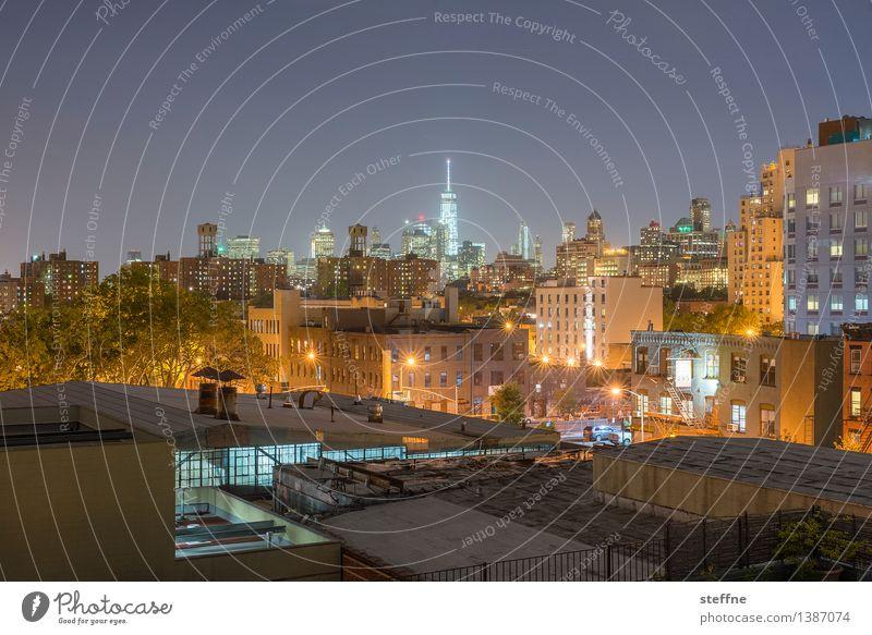 NYC |05 Stadt Freiheit Stadtleben Hochhaus ästhetisch USA Skyline Wahrzeichen Amerika Manhattan New York City Nachtaufnahme Brooklyn World Trade Center