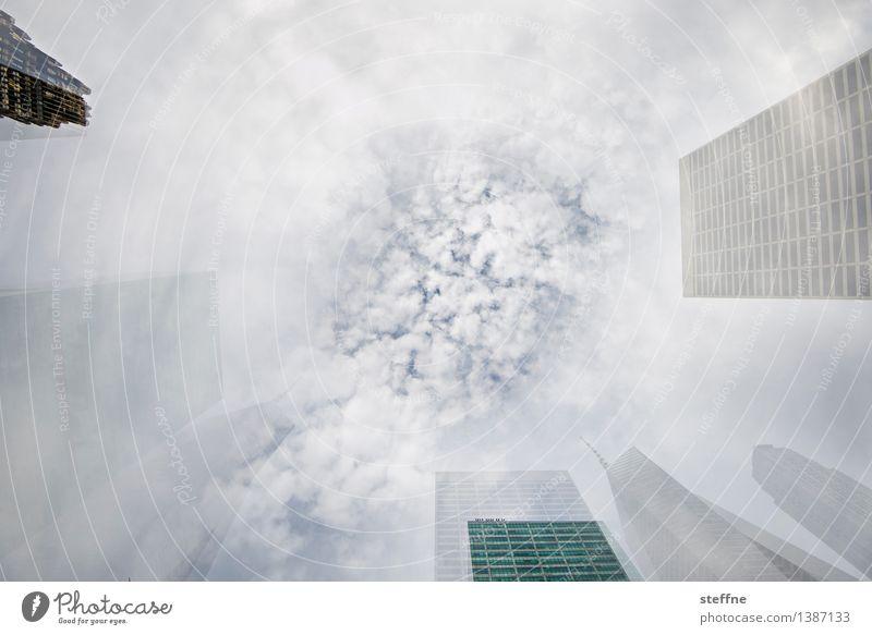 1400 Irritationen Himmel Stadt Wolken außergewöhnlich Hochhaus USA Skyline Doppelbelichtung Surrealismus Manhattan New York City Sog