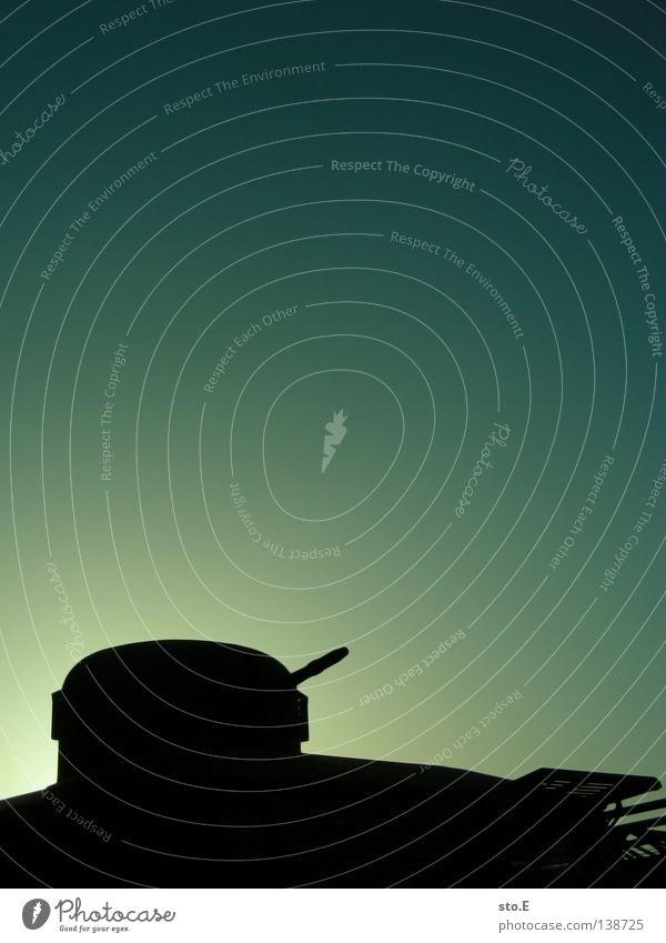 gerüstet Fahrzeug Waffe Militär gepanzert Sport Utility Vehicle Silhouette Licht Verlauf Farbverlauf Krieg Gewalt Kanonen Angriff Gegner Feindschaft Frieden