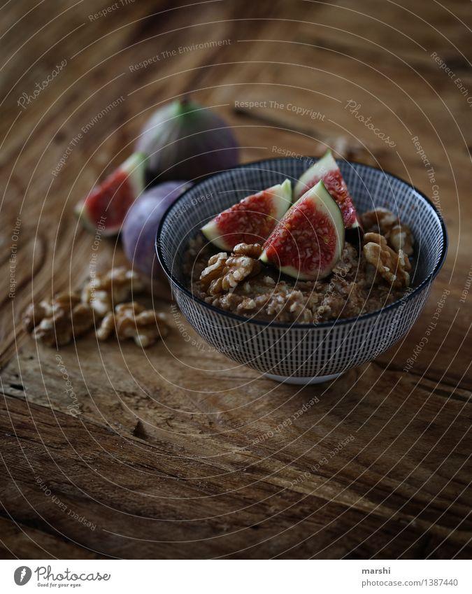 FeigenSnack Gesunde Ernährung Essen Foodfotografie Lebensmittel Stimmung Frucht Fitness Frühstück Appetit & Hunger Dessert Schalen & Schüsseln Diät Holztisch