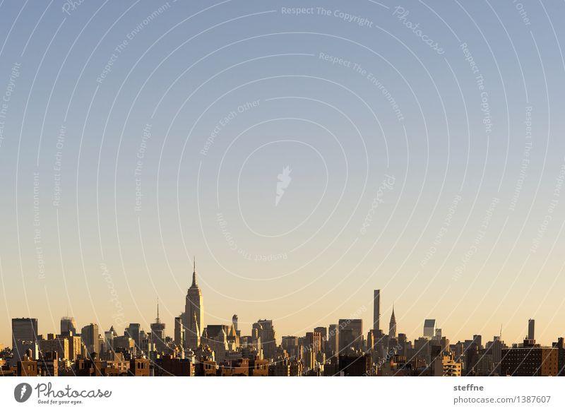 NYC |07 New York City Manhattan USA Stadt Stadtleben Hochhaus Skyline ästhetisch Freiheit Amerika Empire State Building Wahrzeichen Morgen Sonnenaufgang