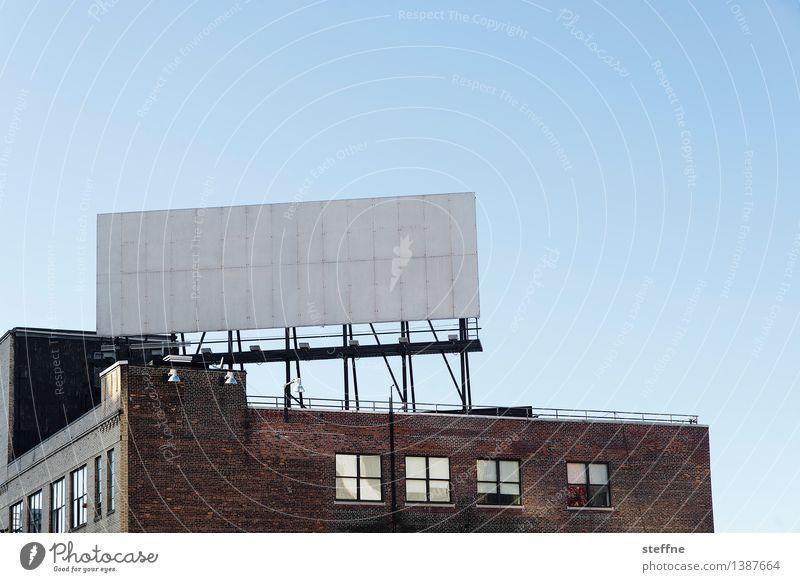 Textfreiraum Stadt Wand Mauer Schilder & Markierungen Grafik u. Illustration Werbung Anzeige New York City Werbeschild