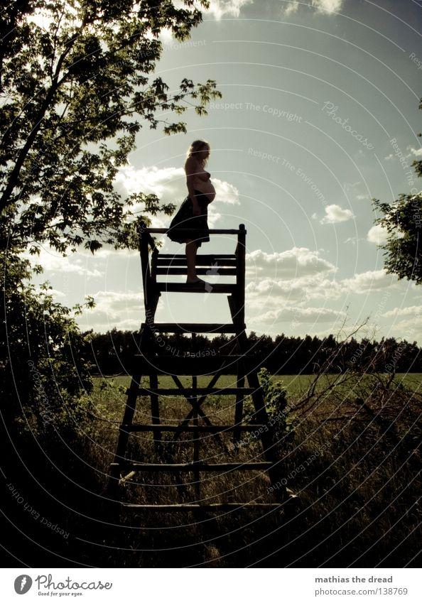 ERWARTUNGSHORIZONT Frau Himmel Natur schön Sonne Meer Freude Einsamkeit ruhig Wald dunkel Wärme Holz See hell Horizont