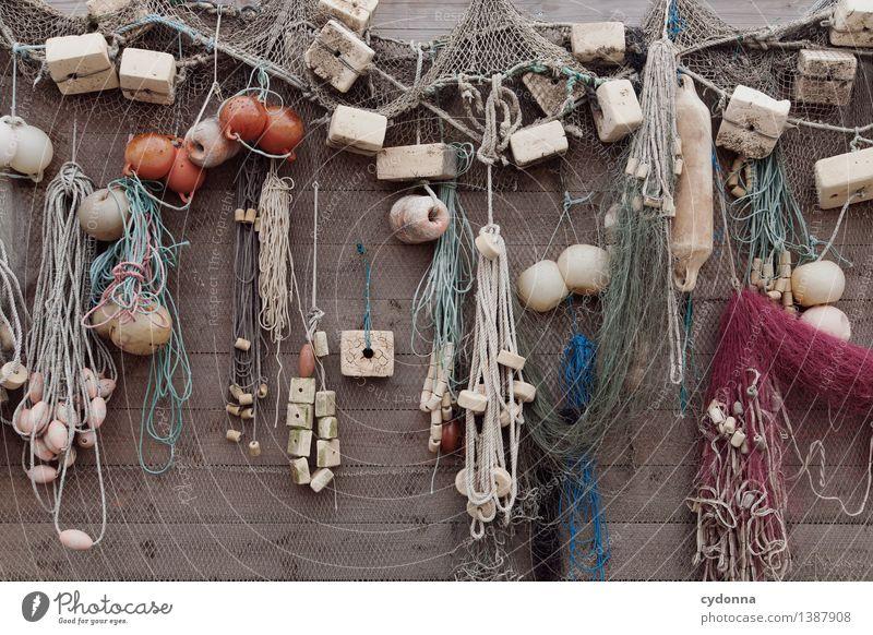 Lauter Seemannsgarn Küste Meer Mauer Wand Erfahrung einzigartig komplex Leben Netzwerk Ordnung Ferien & Urlaub & Reisen Fischereiwirtschaft Fischernetz