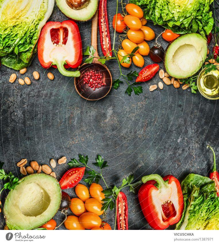 Frisches Gemüse für leckeres vegane und gesundes Kochen Lebensmittel Salat Salatbeilage Ernährung Mittagessen Abendessen Picknick Bioprodukte