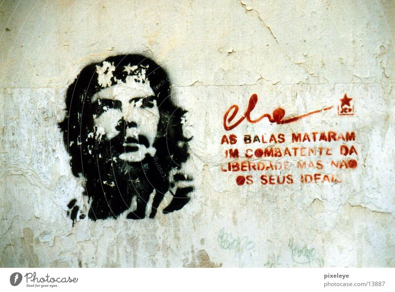 Che Kuba Wandmalereien Havanna Mensch Grafitti Wiedervereinigung