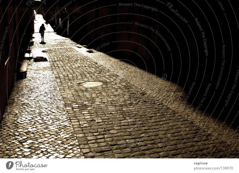Path Frau Verkehrswege Portugal Lissabon