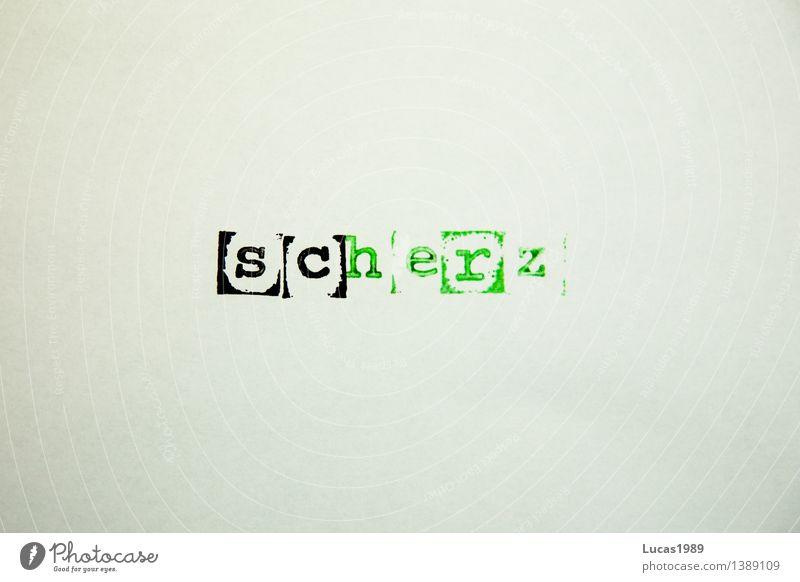 scHERZ grün weiß schwarz Liebe Schule Schriftzeichen Kreativität lernen Herz Idee Papier Romantik Buchstaben Bildung Verliebtheit Wort