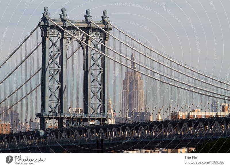 No sleep till Brooklyn Ferien & Urlaub & Reisen Stadt Ferne Lifestyle Business Metall Tourismus Verkehr Hochhaus Beton Brücke Abenteuer USA Skyline Amerika
