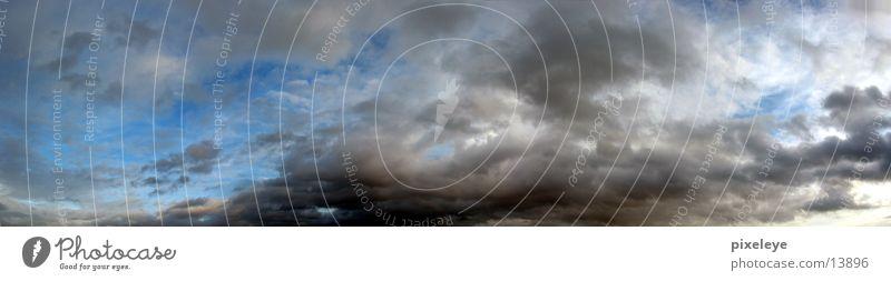 Wolken am Mittag - Panorama schlechtes Wetter Panorama (Aussicht) Sonne Schatten groß Panorama (Bildformat)
