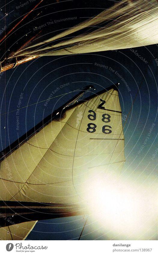 Segelei Wasser Himmel Meer blau Sommer ruhig Sport Wetter Teile u. Stücke Segeln Ostsee Wassersport